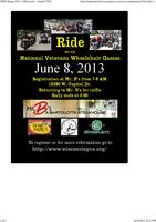 8th Annual Ride for the National Veterans Wheelchair Games