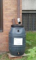 DIY Rain Barrel from Recycled Material
