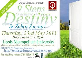 9 Steps to Achieve Destiny- Sister Zohra Sarwari (Sisters Only)