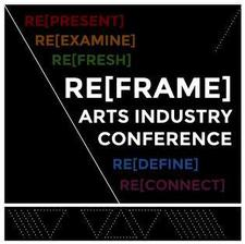 RE[FRAME] Arts Industry Conference logo