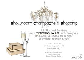 Showroom Champagne & Shopping!