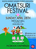 Omatsuri is NOW on SUNDAY 4/28