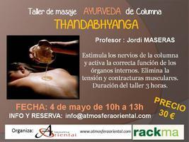 Taller  Ayurveda - ThandAbhyanga - masaje de Columna