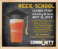 Beer School! 5/4 (Brewery Tour afterwards is included)