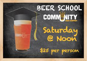 Beer School! 5/18 (Brewery Tour afterwards is included)