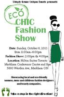 Eco Chic Fashion Show Fall 2013
