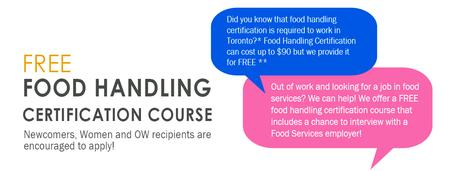 Info Session: FREE Food Handling Training & Interview...