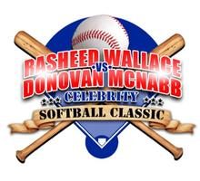 Rasheed Wallace vs Donovan Mcnabb Celebrity Softball Classic