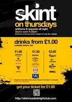 ★ SKINT 08/10/15 ~ £1 ENTRY & £1 DRINKS!!