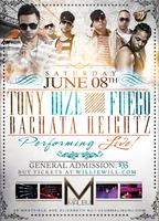 Tony Dize, Fuego & Bachata Heigthz LIVE! @Club Malibu NJ...