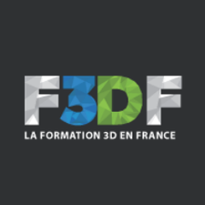 F3DF - Formation 3D France logo