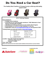 Car Seat Safety Class: Safe Ride 4 Babies
