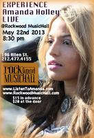 Amanda Holley LIVE @ ROCKWOOD MUSICHALL NYC