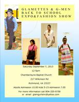 Glamettes& G-Men Back to School Fashion Show & Expo