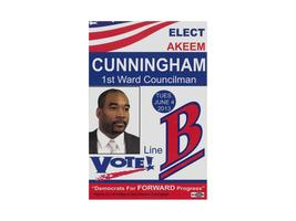 Fundraiser Reception for Akeem Cunningham VOTE! Line B 1st Ward...