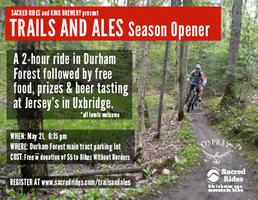 Durham Trails and Ales mountain bike spring kickoff