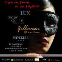 """Trick or Treat at the Trump """"Yelloween Party"""" by Veuve..."""