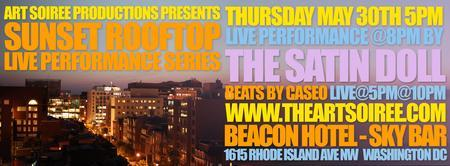 Art Soiree's Sunset Rooftop Performance Series featuring SATIN...