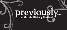 Previously...Scotland's History Festival logo