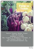 Ruston Farmers Market Farm to Table Fundraising Dinner