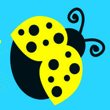 Yellow Ladybugs, Connecting girls with Autism logo
