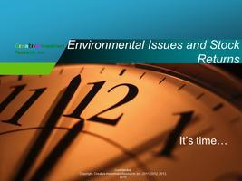 How Environmental Issues Impact Stock Returns