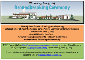 St. Paul the Apostle School's Groundbreaking Ceremony