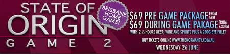 State of Origin Dinner Package GAME#2