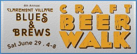 4th Annual Claremont Village Brews & Blues — Craft Beer Walk