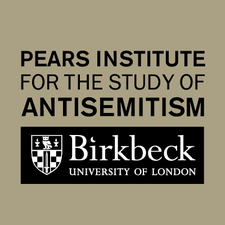 Birkbeck, University of London, the Pears Institute for the study of Antisemitism and The Wiener Library for the Study of the Holocaust and Genocide. logo