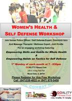 Womens Health and Self Defense Workshop