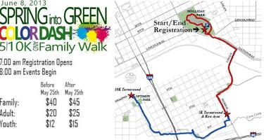 4th Annual Spring Into Green 5k, 10k and Family Walk
