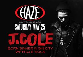 J. Cole Hosts Memorial Day Weekend @ HAZE Nightclub