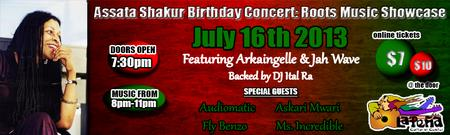 Assata Shakur Birthday Concert: Roots Musik Showcase