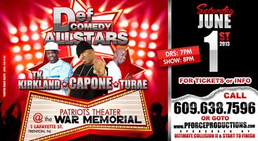 Capone, TK Kirkland & TuRae featured at Def Jam All Stars Comedy...