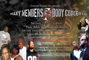 MANY MEMBERS 1 BODY  (Gospel Rap Concert) ENCORE...