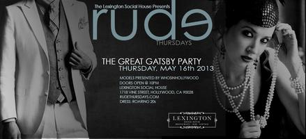 Rude Thursdays Presents: The Great Gatsby Party