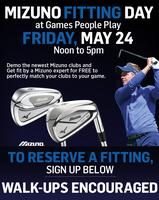 Mizuno Fitting Day Friday, May 24th Noon - 5pm at GPP!