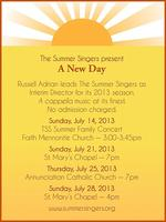 "SMC Summer Singers present ""A New Day"""