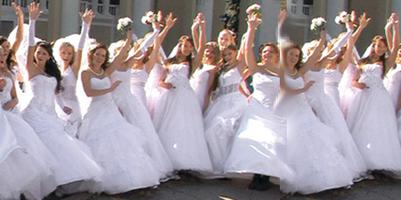 Marching Of The Brides: Designer Wedding Gown Sale