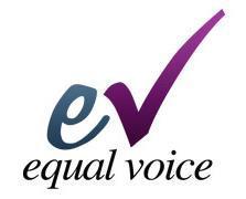 Equal Voice Alberta North logo