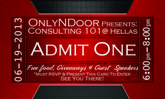 OnlyN Door Consulting 101 -Free Food, Giveaways & Guest Speakers