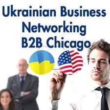 Ukrainian Business Networking B2B Chicago  logo