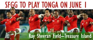SFGG v Tonga, 3PM Kick-off.