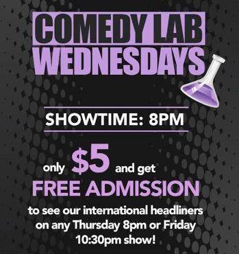 Comedy Lab Wednesdays @ The Comedy Nest - Every Wednesday: 8:00 PM to 9:30 PM