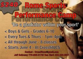 Rome Sports Performance Camp