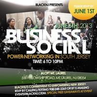 BLACKNJ Presents Business Social