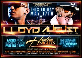 August Alsina and Lloyd Live this Friday at Harlem Nigh...
