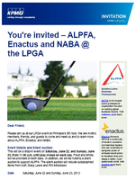ALPFA KPMG Enactus and NABA at the LPGA