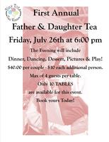 Tiny Tots First Annual Father & Daughter Tea